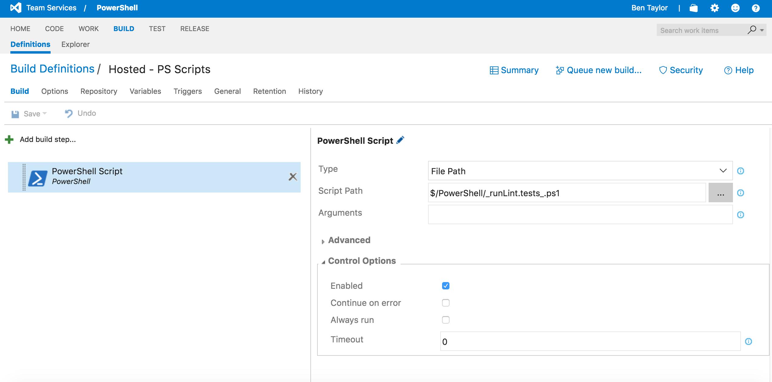 Visual Studio Online (VSO) - Powershell Pester Invoke